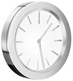 Klok Smedbo Time 6x1 cm Chroom met Witte Wijzerplaat