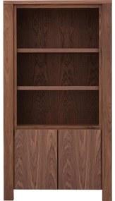 Goossens Boekenkast Plain, 2 deuren, 3 open vakken