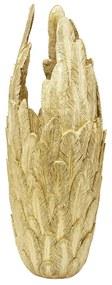 Kare Design Feathers Gold Gouden Vaas Van Veren L