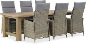 Garden Collections Madera/Fourmile 260 cm dining tuinset 7-delig