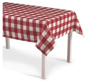 Rechthoekig tafelkleed, wit-rood ruit