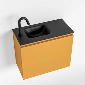 MONDIAZ OLAN 60cm toiletmeubel ocher. LEX wastafel urban links 1 kraangat