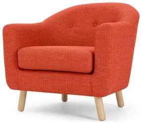 Lottie fauteuil, Toscaans oranje