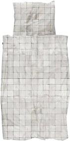 Snurk Tiles Pearl White biologisch katoenen dekbedovertrekset 160TC - inclusief kussenslopen