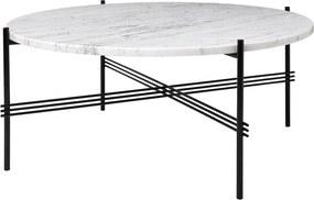 Gubi TS Table salontafel zwart onderstel wit marmer 80