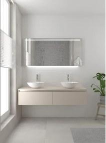 Bruynzeel Giro badmeubelset 49x150x46cm 2 wasbakken 2 lades met spiegel met softclose composite kasjmier grijs 123102553