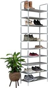 Schoenenrek voor 20 paar - Grijs - 10 etages
