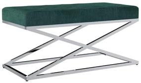 Medina Bankje 97 cm fluweel en roestvrij staal groen