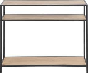 Sidetable Metalen Frame En Eiken - 100 X 35cm.