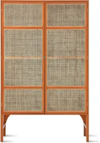 HKliving Webbing Orange Retro Webbingkast Oranje - 125x40x200cm.