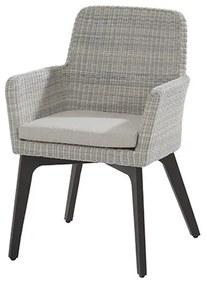 Lisboa dining fauteuil - licht grijs - wicker - 4 Seasons Outdooor