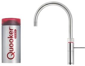 Quooker Fusion Round keukenkraan koud, warm en kokend water met COMBI reservoir RVS 22FRRVS
