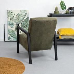 SoHome Fauteuil 'Erland' kleur groen
