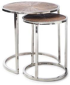 Rivièra Maison - Greenwich End Table Set/2 - Kleur: zilver