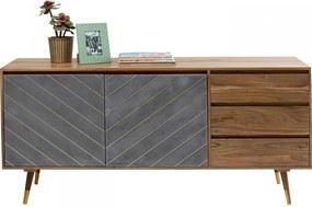 Kare Design Flora Acaciahouten Retro Dressoir - 160x45x75cm.