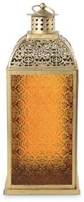 Lantaarn Marrakesh - oranje - 12x12x30 cm