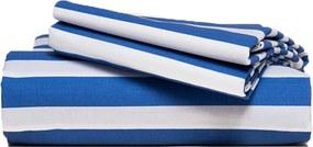 Van Morgen | Dekbedovertrekset Under Horizons lits-jumeaux: 240x220cm + 2/60x70cm blauw, wit dekbedovertreksets percal katoen | NADUVI outlet