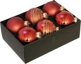 Luxe kerstballen set rood - 72 delig