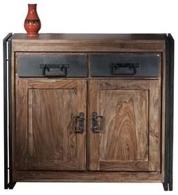 Dressoir Van Sheeshamhout 2-deurs - 100x40x90cm.