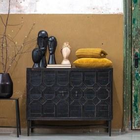BePureHome Bequest Vintage Dressoir Zwart Hout - 109x50x86cm.
