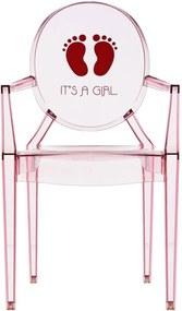 Kartell Lou Lou Ghost It's a Girl kinderstoel roze