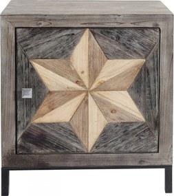 Kare Design Starry Houten Nachtkastje - 60.5x38x65cm.