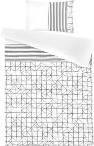 Morning Lifestyle | Dekbedovertrekset Kennedy medium: lengte 240 cm x breedte 200 cm wit, zwart dekbedovertreksets katoen, | NADUVI outlet