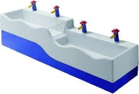 Sphinx 300 Kids Wastafel H20xD41.5cm 45cm 4 kraangaten rechthoek Keramiek Wit S8VR1002000