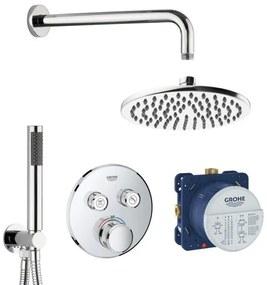 Grohe SmartControl inbouw doucheset rond met 20cm hoofddouche en handdouche chroom SW223511