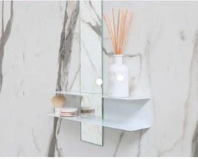 Linea planchet glans wit - met spiegel 10x100cm