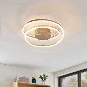 Davian LED plafondlamp, dimbaar, nikkel - lampen-24