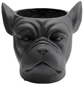 Kare Design Bulldog Black Bulldog Plantenbak Zwart