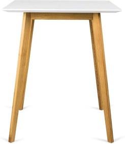 Tenzo bartafel Bess - wit/eiken - 95x80x80 cm - Leen Bakker
