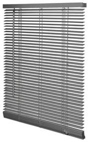 Intensions Jaloezie 120x175x5cm lamellen 2.5cm Hout met Aluminium raamwerk Donkergrijs 1187227