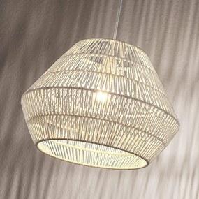 Hanglamp Ottavio van papieren vlechtwerk, wit - lampen-24