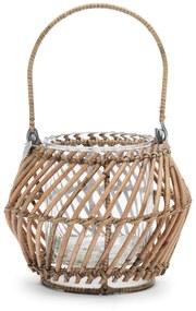 Rivièra Maison - Rustic Rattan Diagonal Weave Votive - Kleur: naturel