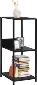 Boekenkast 33,5x39,6x79,7 cm spaanplaat zwart