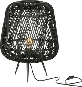 Moza Tafellamp Bamboe Zwart - Bamboe - Woood - Industrieel & robuust