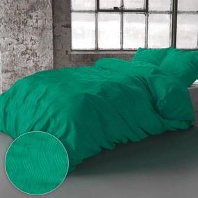 Zensation Verona - Groen 1-persoons (140 x 220 cm + 1 kussensloop) Dekbedovertrek