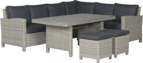 Garden Impressions Norma lounge dining set - vintage willow
