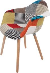 Hearthome & Living | Set van 2 Stoelen Dave lengte 61 cm x breedte 62 cm x hoogte 80 cm multicolour stoelen zitting: stoffen | NADUVI outlet