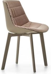 MDF Italia Flow Color Cross gestoffeerde stoel bruin stofsoort Spring
