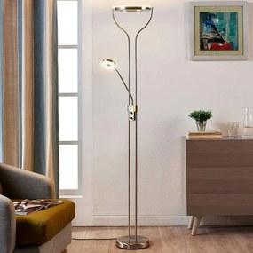 Ringvormige LED vloerlamp Lana met leeslamp