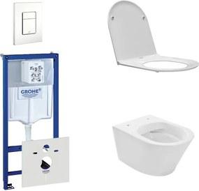 Wiesbaden Vesta Rimfree toiletset bestaande uit inbouwreservoir, toiletpot met softclose en quickrelease toiletzitting en bedieningsplaat wit 0729205/SW96079/SW95748/0720003