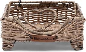 Rivièra Maison - Rustic Rattan Lovely Heart Napkin Holder