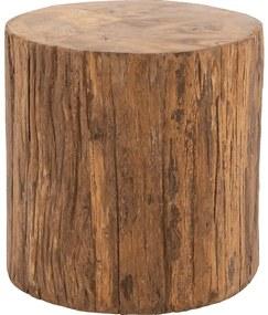 Goossens Bijzettafel Otis, hout teak blank, stijlvol landelijk, 45 x 45 x 45 cm