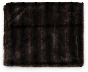 Rivièra Maison - Vintage Faux Fur Throw 170x130 - Kleur: bruin