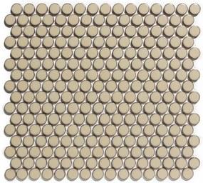 Mozaiek Coins Venice Beige met rand