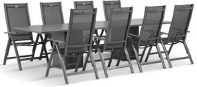 Hartman Royal Club/Graniet 300 cm dining tuinset 9-delig