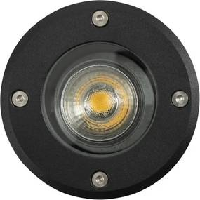 Grondspot LED Rond Zwart
